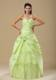 Ruching and Layers Sweet 15 Dresses in Light Green with Handle Flowers
