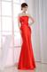 Mermaid Floor-length Dress for Prom with Petal Neckline and Beaded Sash