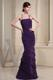Spaghetti Straps Tiers Prom Gowns in Purple with Criss Cross back