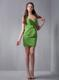 Spring Green Column Sweetheart Prom Dress with Beaded Belt