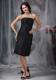 Ruche A line Bridesmaid Dress with Strapless Knee-length