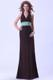 Halter Empire Brown Bridemaid Dress With Belt Floor-length Backless