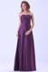 Dark Purple Strapless A-line Strapless Bridemaid Dress