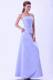 Lilac Spaghetti Straps Bridemaid Dress A-line Satin Floor-length
