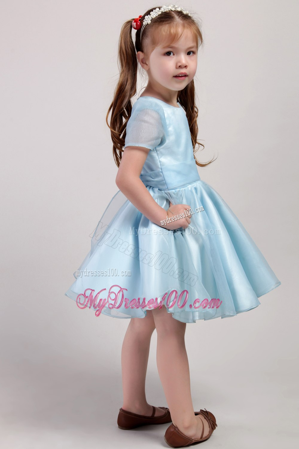 Fall Color Dresses For Little Girls Bowknot Little Girl Dress