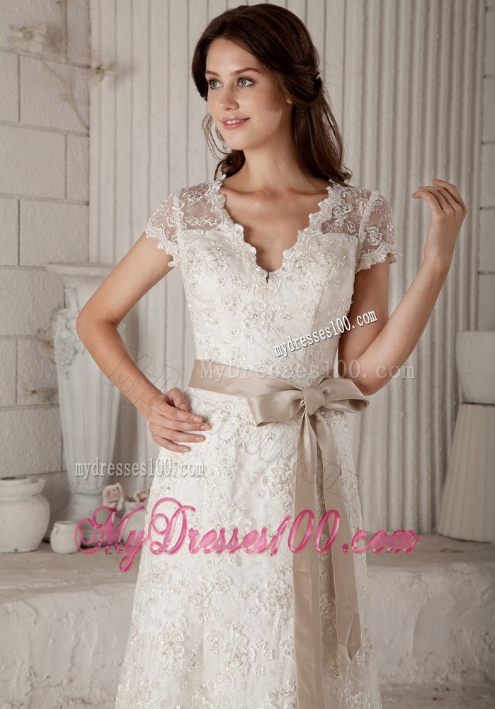 Designer Round Net Fabric Gown In Off White Color Pawdnr5102