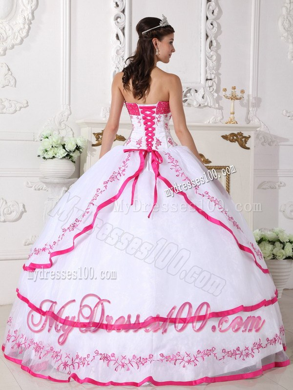 quinceanera dresses pink and white with flowersQuinceanera Dresses 2014 Pink And White