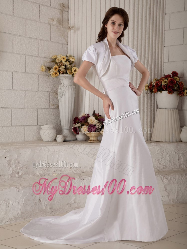 Modest strapless court train discount wedding dresses on sale for Cambodian wedding dresses sale