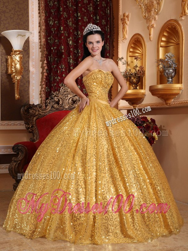 Ball Gown Sweetheart Quinceanera Dress with Beading and Sequins