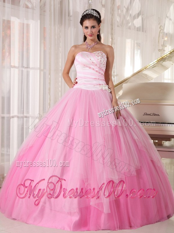 baby pink sweet 15 dresses with diamonds ruffles and big