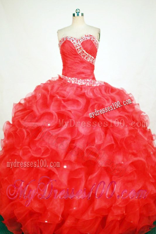 Decorations for quinceaneras red gorgeous ball gown sweetheart