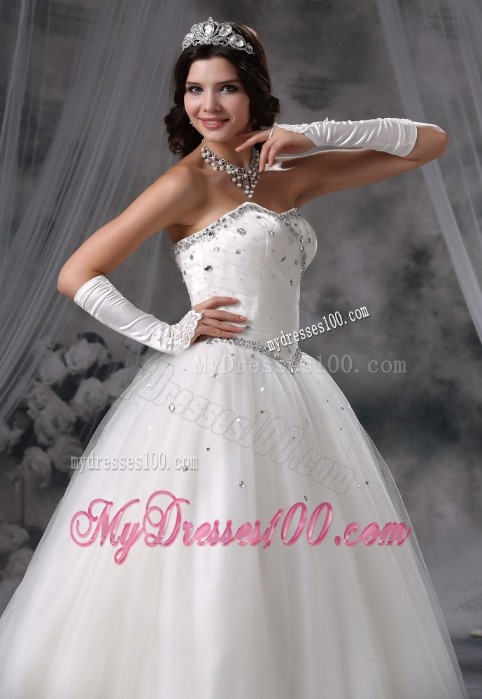 Beaded bodice ball gown wedding dresses
